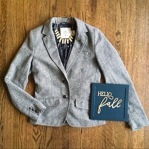 H&M Logg herringbone elbow patch blazer